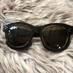 CÉLINE Square Sunglasses Havana